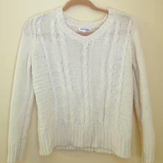 White sweater White sweater St. John's Bay Sweaters Crew & Scoop Necks