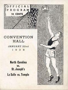 1938 UNC-St Josephs Game Program