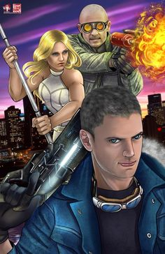 Captain Cold, White Canary and Heatwave from Legends of Tomorrow © Tyrine Carver and Wil Woods of Musetap Studios Supergirl Dc, Supergirl And Flash, Cold Wallpaper, Comic Book Characters, Comic Character, Marvel Memes, Marvel Dc, Captain Cold And Heatwave, Medieval Tv Shows