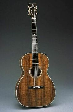 all koa parlor guitar