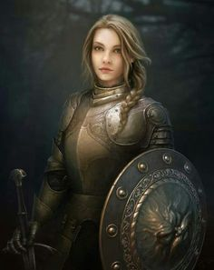 This is a really cool woman warrior! Would be a really great main character type in a fantasy novel.
