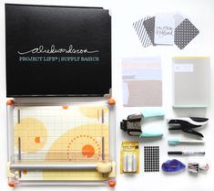 A look at the basic supplies I use almost every week for #projectlife.