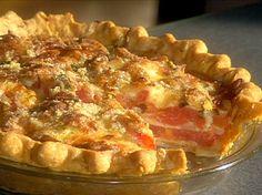 Cheesy Vidalia Onion and Tomato Pie from FoodNetwork.com