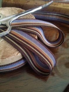 5/8 Sawtooth Edge Vintage French Striped by VintageRibbons on Etsy