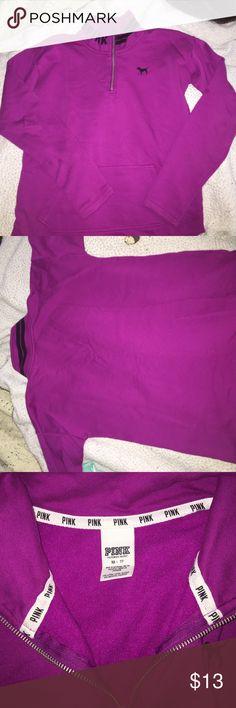 "VS PINK FLEECE PULLOVER Magenta Victoria's Secret PINK fleece pullover (no hood) size ""XS"" but fits Medium!! *VS PINK apparel usually is oversized* great condition PINK Victoria's Secret Tops Sweatshirts & Hoodies"