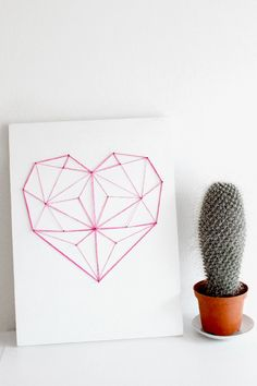 DIY: geometric heart decor