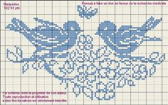 Cross stitch pattern: birds