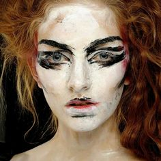 Painting #makeup ?  I could have fun creating an #Impressionist #costume w/thus idea