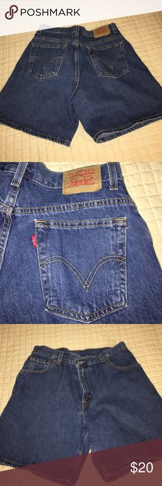 Like new true blue Jean shorts Who doesn't love Levi's? These look like they just came out of the package. Identical black pair in another listing in my closet. Bundle for a discount.  🌷🌷🌷🌷🌷 Levi's Shorts Jean Shorts