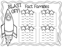 3, 2, 1... blast off! {a fact family craftivity}