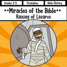 Raising of Lazarus - the Miracles of Jesus (Yeshua). Six activity worksheets.
