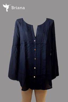 #blusa en #azul #marino con #botones #dorados