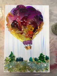 Sea Glass Crafts, Sea Glass Art, Seashell Crafts, Glass Wall Art, Stained Glass Art, Fused Glass, Resin Crafts, Broken Glass Art, Shattered Glass