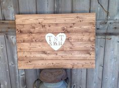 Personalized Hand Painted Guest Book Sign with heart in the middle Initials and date Sign measures 30X20 by SimplymadesignsbyB on Etsy