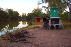 Camping along the Moonie river at the Nindi Gully Pub, Outback Queensland Australia. A very lovely place to be, away from all the stress of every day life.