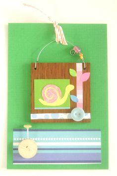 Garden snail wired wall hanging by littlebigtopstudio on Etsy