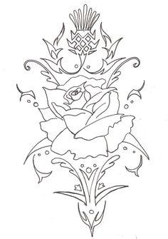 Thistle & Rose pattern