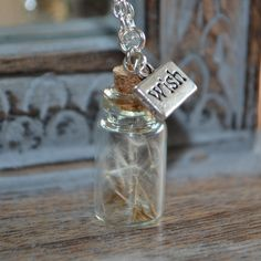 hot sale wholesale /lot Real Dandelion Seed Mini bottle Necklace wish pendant necklace - Childhood Memories Resin Jewelry, Jewelry Findings, Bottle Necklace, Pendant Necklace, Glass Vials, Mini Bottles, Organza Gift Bags, Bottle Crafts, Silver Necklaces