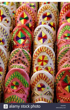 Colourful Traditional Moroccan Slippers Babouches For Sale In The Stock Photo, Royalty Free Image: 10934828 - Alamy