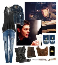 """""""Supernatural"""" by mysterygirl1999 ❤ liked on Polyvore featuring Pull&Bear, AllSaints, American Eagle Outfitters, Ella Moss, House of Harlow 1960, Mix No. 6, supernatural and DeanWinchester"""