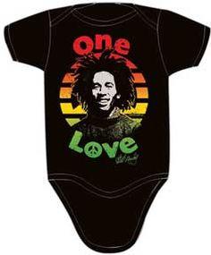 Bob Marley Peace Black One Piece
