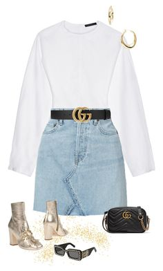 """GG"" by sofiaskippari ❤ liked on Polyvore featuring The Row, RE/DONE, Sphera, Spaziomoda and Gucci"