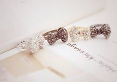 Cute bow rings <3