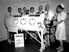 A grim reminder of bygone times is captured in this photo of an iron lung donated by the Kiwanis Club to the Alamance County community in the late 1940s. A polio epidemic sent many from our area into wheelchairs or an iron lung like the one shown here.