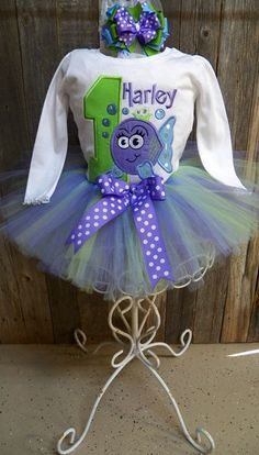 Custom Bubble Fish - Under The Sea Theme Birthday Outfit