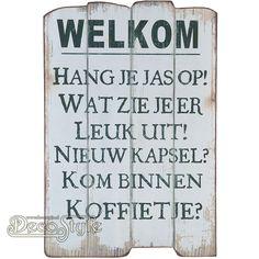 Decoratie Spreuk - W