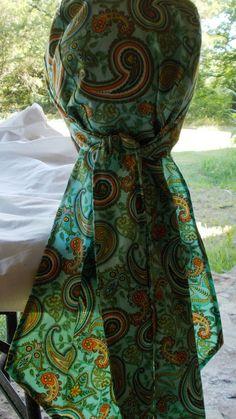 DORAG Womens Handmade Xlong Beautiful Light Turquoise by silcoon52
