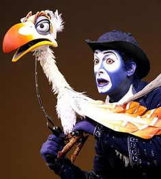 """Jeff Binder as """"Zazu"""" from the Broadway production in The Lion King musical. I loved this character Lion King Play, Lion King Show, Lion King Jr, Zazu Lion King, Broadway Costumes, Theatre Costumes, Musical Theatre, Lion King Musical, Lion King Broadway"""