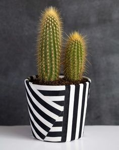 DIY Fabric Wrapped Cactus Pot - 20 DIY Weekend Projects – Easy & Fun Summer Projects Source by mydiy Cute Diy Projects, Weekend Projects, House Projects, Painted Flower Pots, Painted Pots, Hand Painted, Cactus Pot, Deco Originale, Diy Décoration