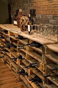 So einfach kann man ein eigenes Weinregal selber bauen Pallet shelves build as modern DIY wine racks Related posts: 172 Easy DIY Tables That You Can Build on a Budget Ana White Vin Palette, Palette Wine Rack, Bar Pallet, Pallet Ideas, Wine Rack Pallet, Rustic Wine Racks, Pallet Wood, Wine Cellar Design, Wine Bar Design
