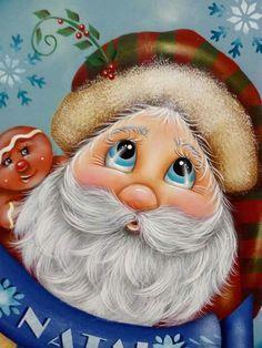 Tole Painted Santa
