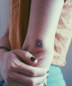 We are obsessed with girl power tattoo!