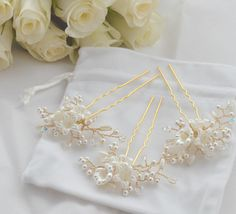 Hey, I found this really awesome Etsy listing at https://www.etsy.com/listing/398262113/bridal-hairpins-floral-bridal-hairpins