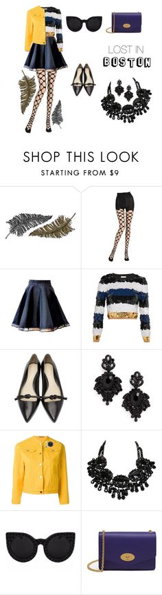 """""""lost in Boston"""" by lis-van-lv ❤ liked on Polyvore featuring Paperself, Emilio Cavallini, Sonia Rykiel, 3.1 Phillip Lim, Tasha, Peter Jensen and Mulberry"""