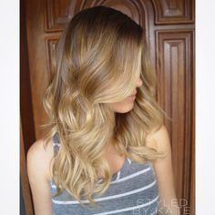 What doesn't kill you, only makes you blonder! #styledbykate. Beautiful blonde balayage highlights over a natural base. Beach babe hair