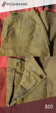 Ladies 100% Linen Pants Eddie Bauer Tall 100% Linen pants..never worn.  Nice weight for Spring, Summer or Fall. Rich brown color. Eddie Bauer Pants Wide Leg