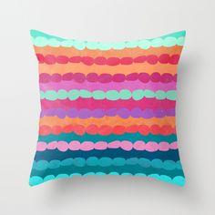 Brite Stripe Throw Pillow by LULU Hazel | Society6