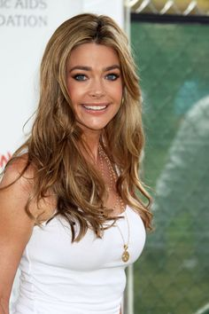 Long Hairstyles with Blonde Hair Color for Women from Denise Richards