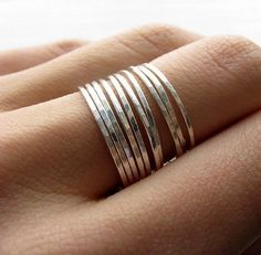 stacked thin rings.