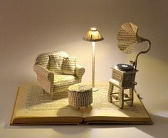 Book Sculpture  Book Art  Altered Book by MalenaValcarcel on Etsy