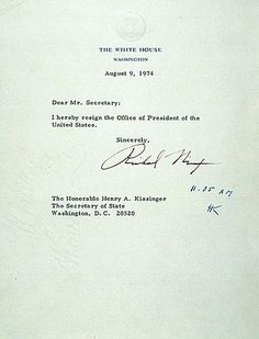 Richard Nixon's resignation letter.  People have longer texts to complete strangers than this.