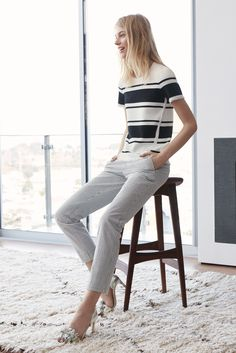 Our soft seersucker pants are the key for a polished spring look | Banana Republic