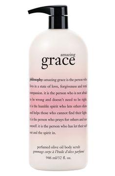 'amazing grace' perfumed olive oil body scrub by philosophy