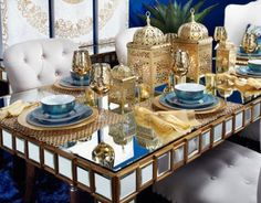 Stylish Home Decor & Chic Furniture At Affordable Prices Fest Des Fastenbrechens, Moroccan Theme, Moroccan Party, Moroccan Wedding, Home Decoracion, Ramadan Decorations, Dining Room Inspiration, Dinnerware Sets, Decoration Table