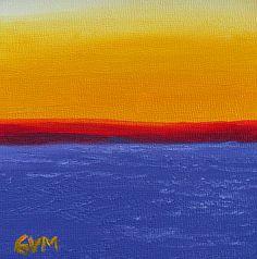 Minimalist #5 by Giselle Vidal McMenamin Oil ~ 5 x 5