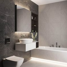 Interior Design Around Walnut Wood Finishes: 3 Great Examples Timeless Bathroom, Modern Bathroom Decor, Bathroom Interior Design, Small Bathroom, Pendant Lighting Bedroom, Dining Room Lighting, Bad Inspiration, Bathroom Inspiration, Wooden Accent Wall